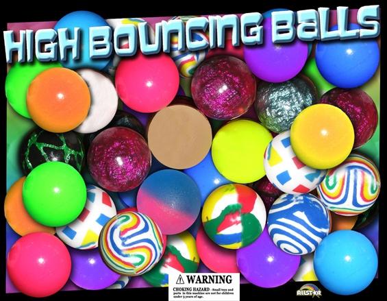 45mm Assorted Basic Mix Bouncy Balls