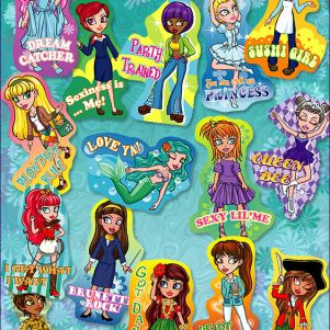 Allstar Girls #4 Stickers