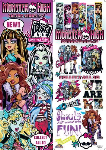 Monster High Tattoos #2