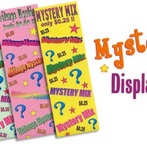 Mystery Mix Displays set at 0.25$