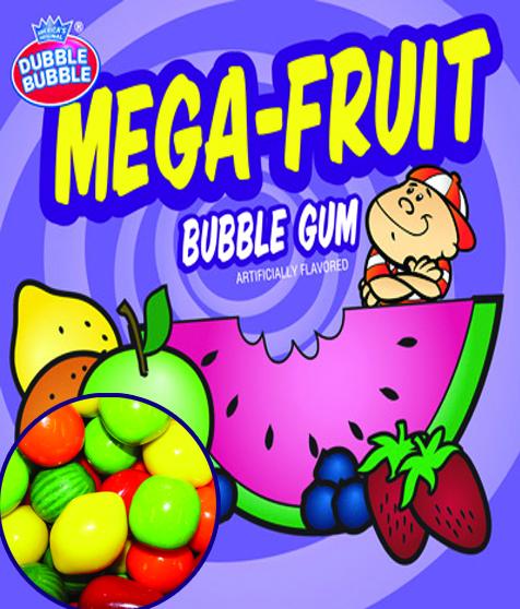 Mega Fruit Jumbo Gum
