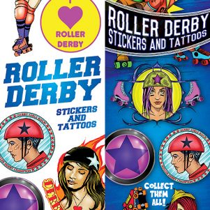 Roller Derby Stickers & Tattoos