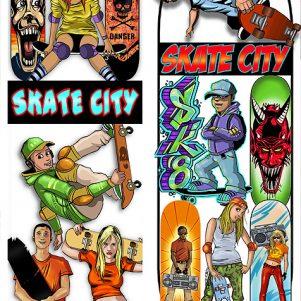 Skate City Stickers